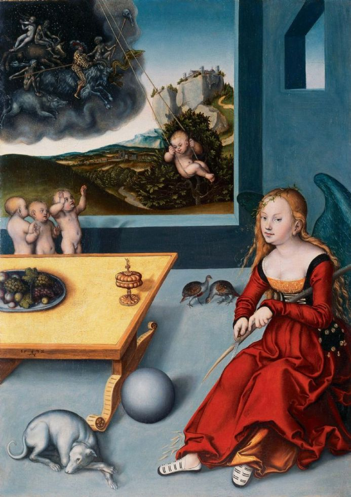 Cranach, Lucas (The Elder): Melancholia. Fine Art Print/Poster. Sizes: A4/A3/A2/A1 (00459)